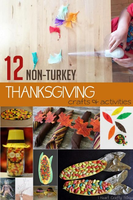 12 Non-Turkey Thanksgiving Crafts for Kids to Make & Do