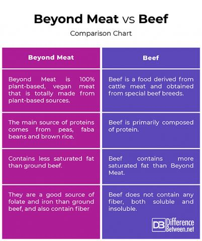 Difference Between Beyond Meat and Beef